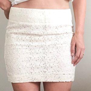 Forever 21 | White Lace Mini Skirt